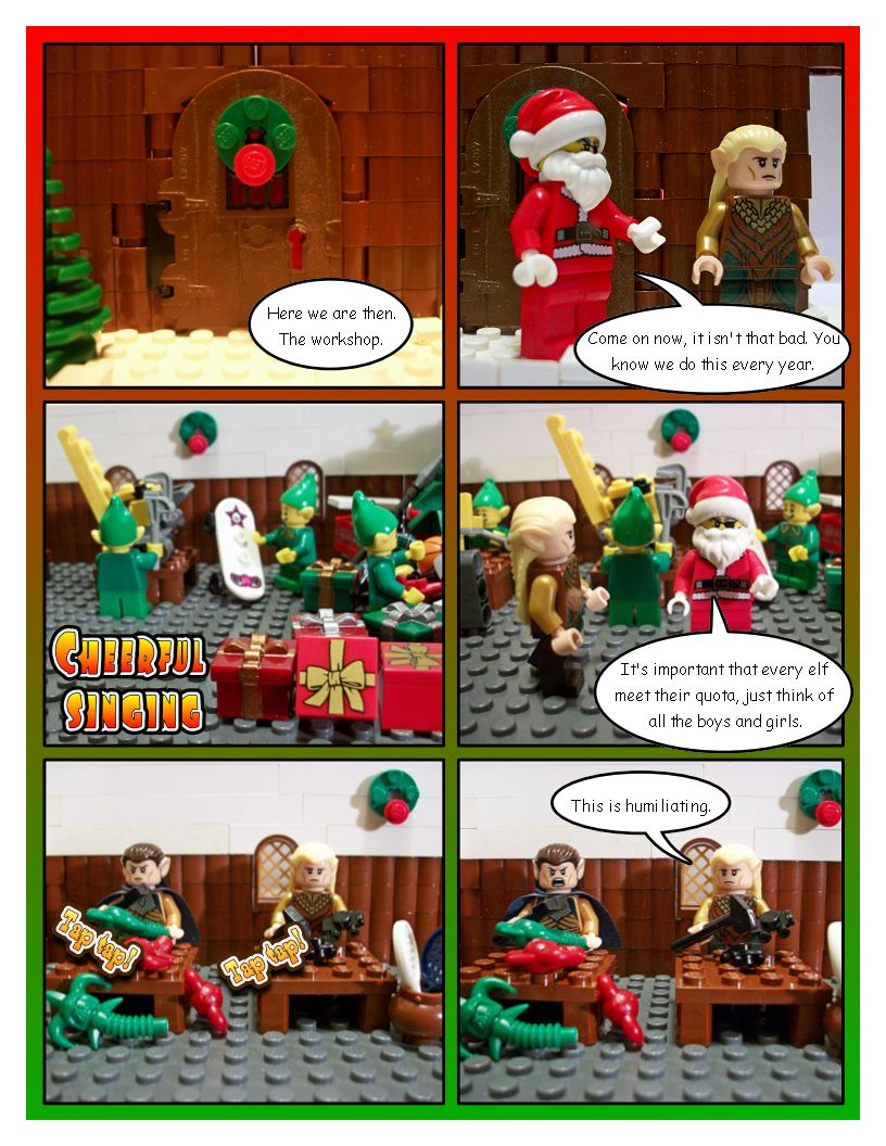 Legolas, the Christmas Elf - Part Two